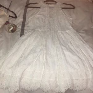 Free People White Lace Dress SZ 6